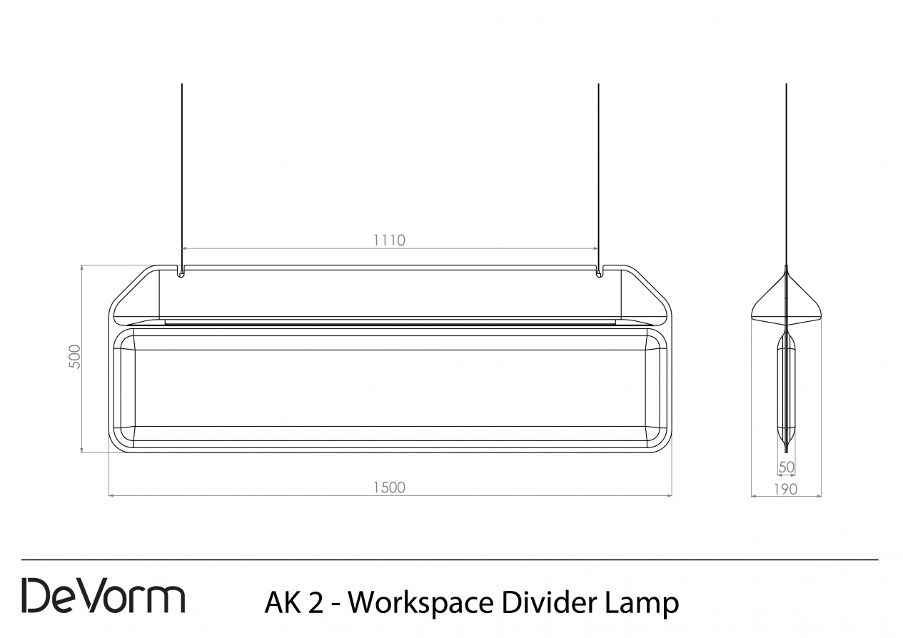 AK 2 - Workspace Divider Lamp preview