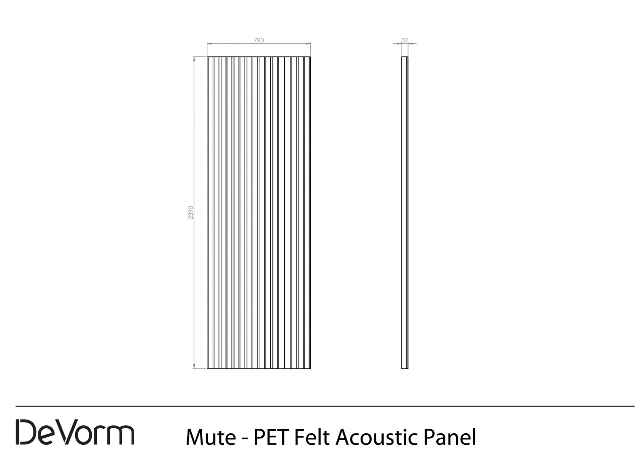 Mute - Technical Drawing preview