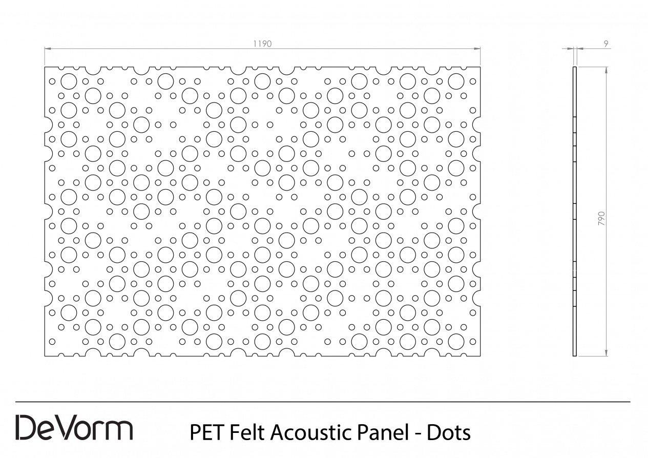 PET Felt Acoustic Panel - Technical Drawing (.pdf) preview