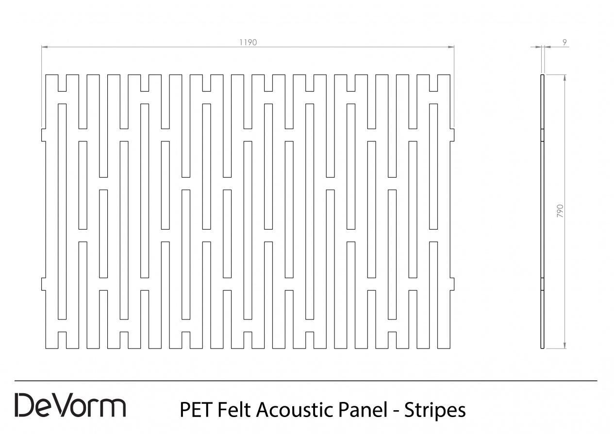 Technical Drawing - PET Felt Tiles Stripes (.pdf) preview