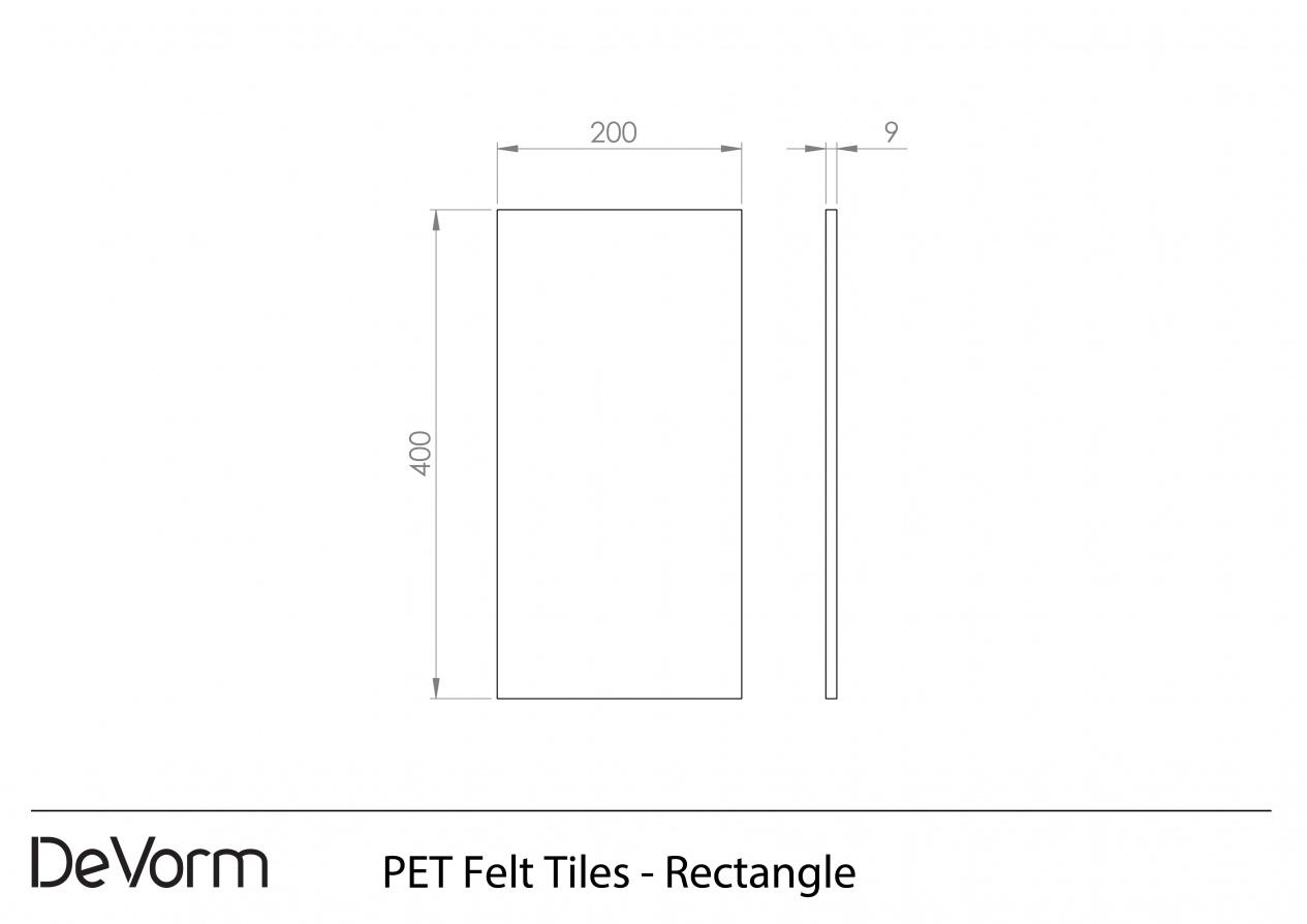 PET Felt Tiles - Rectangle preview