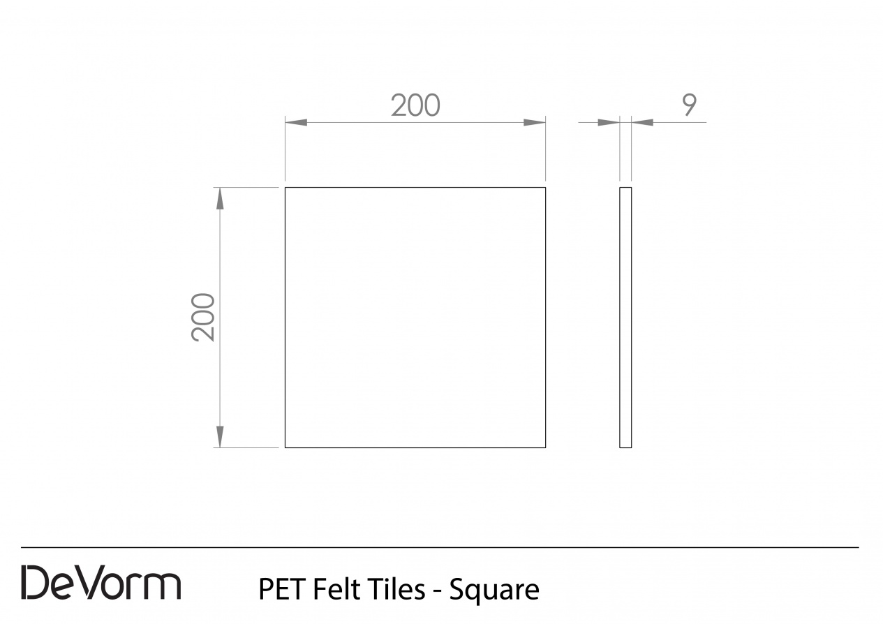 PET Felt Tiles - Square preview