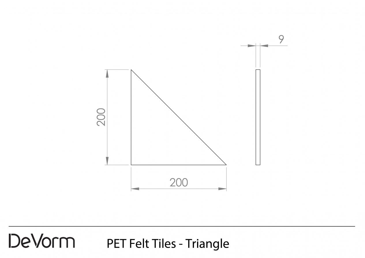 PET Felt Tiles - Triangle preview