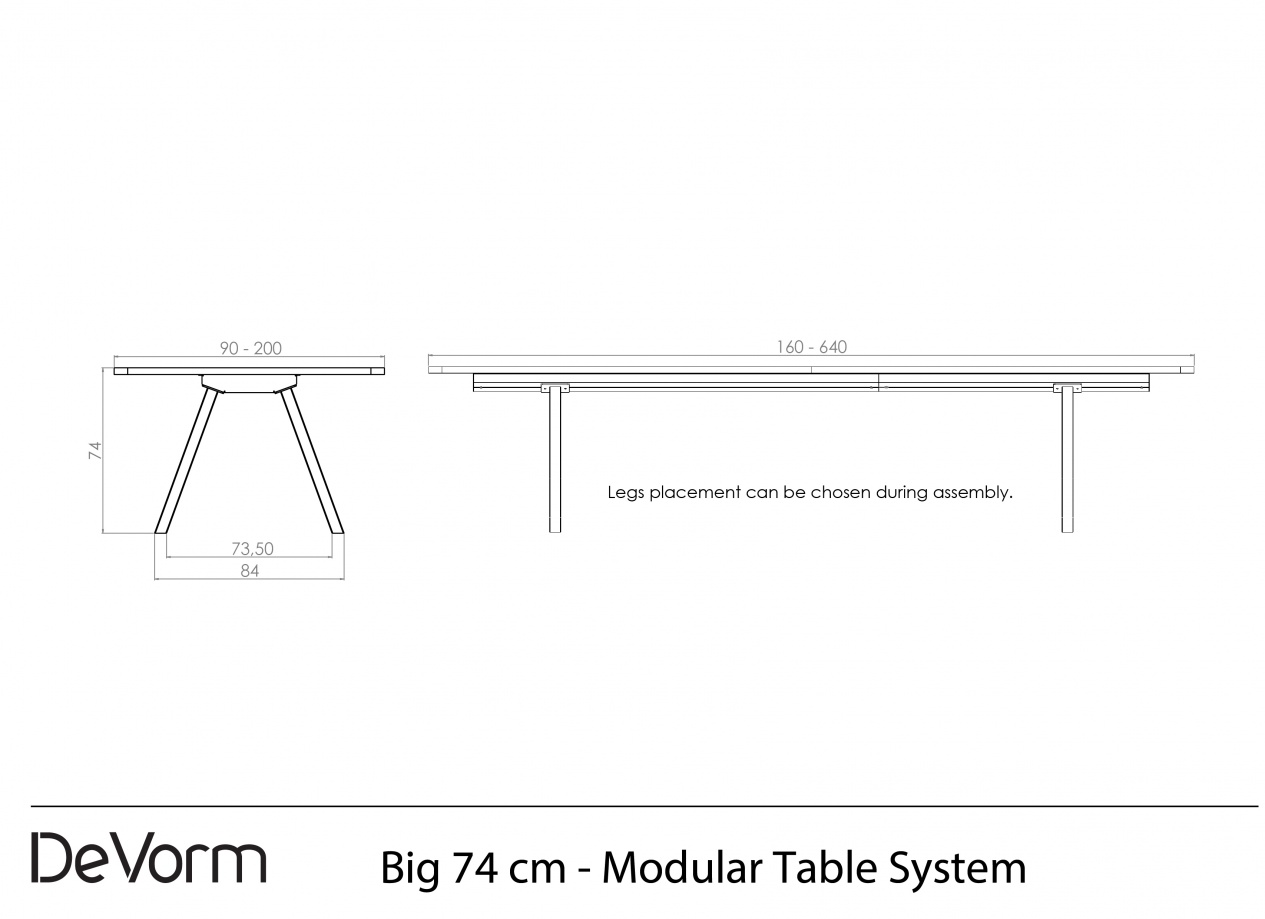 Big 74 cm - Technical Drawing preview