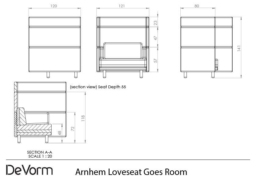 Arnhem Loveseat Goes Room preview