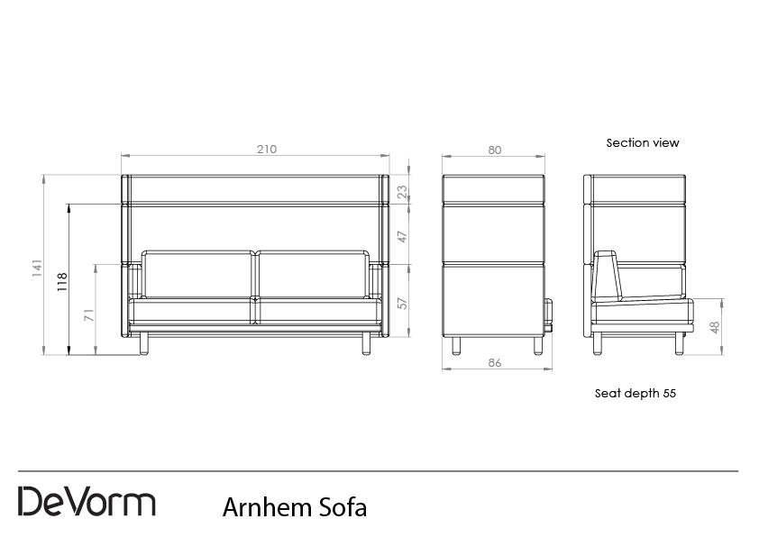 Arnhem Sofa - 2D preview