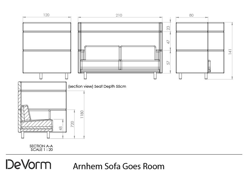 Arnhem Sofa Goes Room - 2D preview