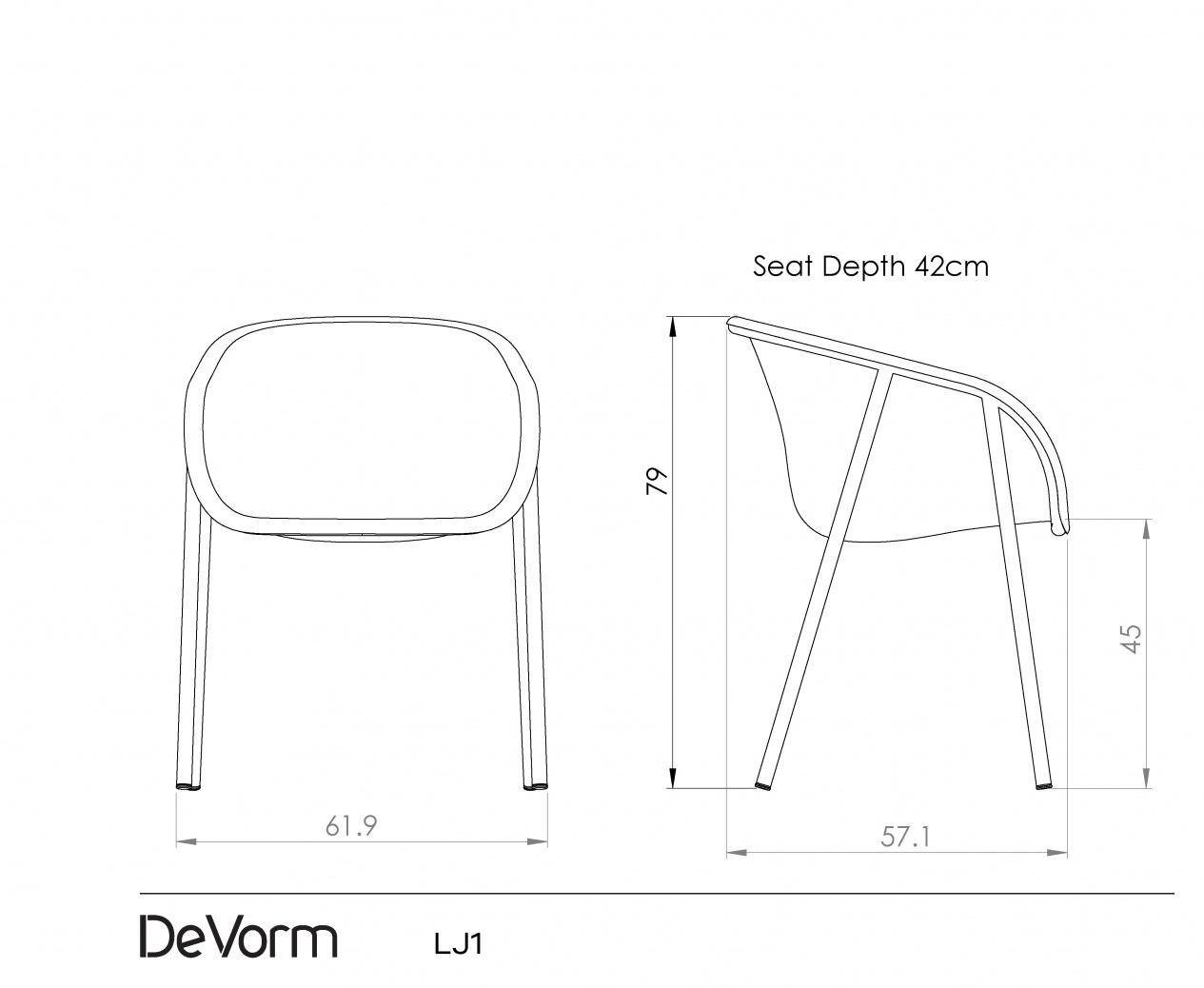 LJ 1 | Recycled PET felt chair | Designed by Laurens van Wieringen