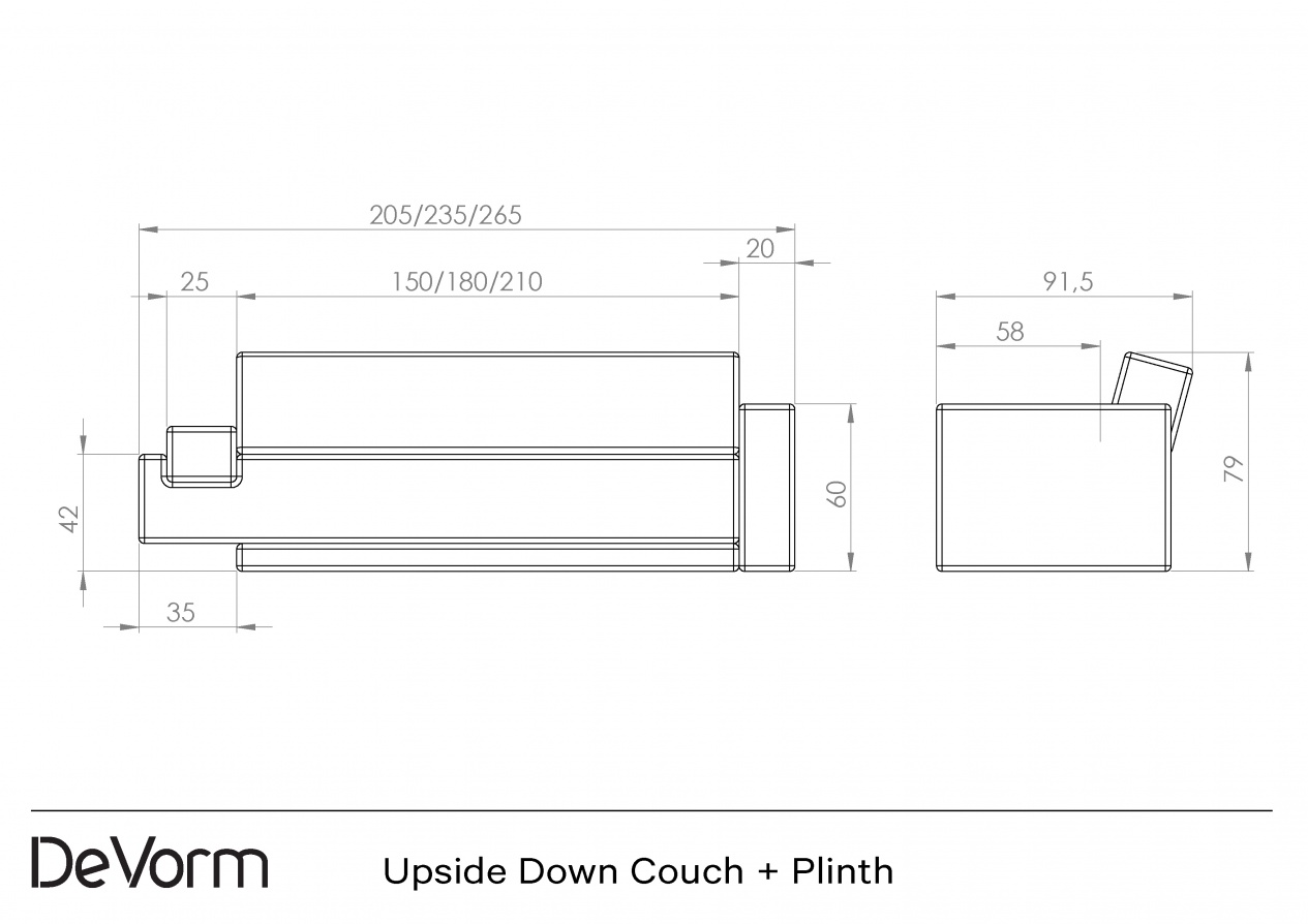 Upside Down Couch + Plinth preview