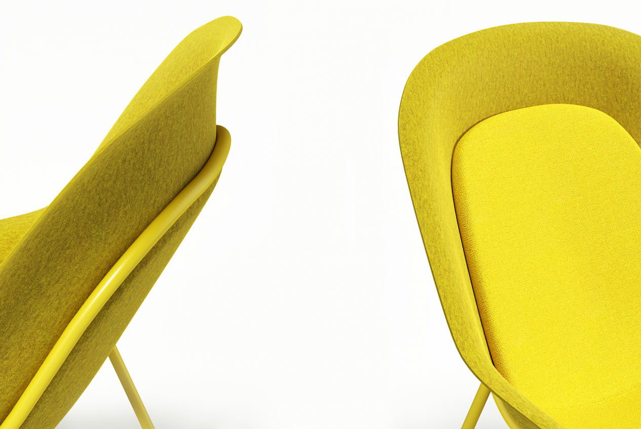 De-Vorm-PET-Felt-Yellow-Nook-Lounge-Chair