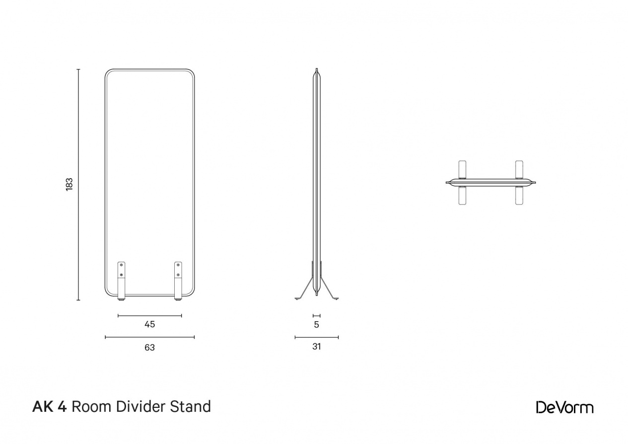 AK 4 Room Divider Stand | Technical Drawing preview