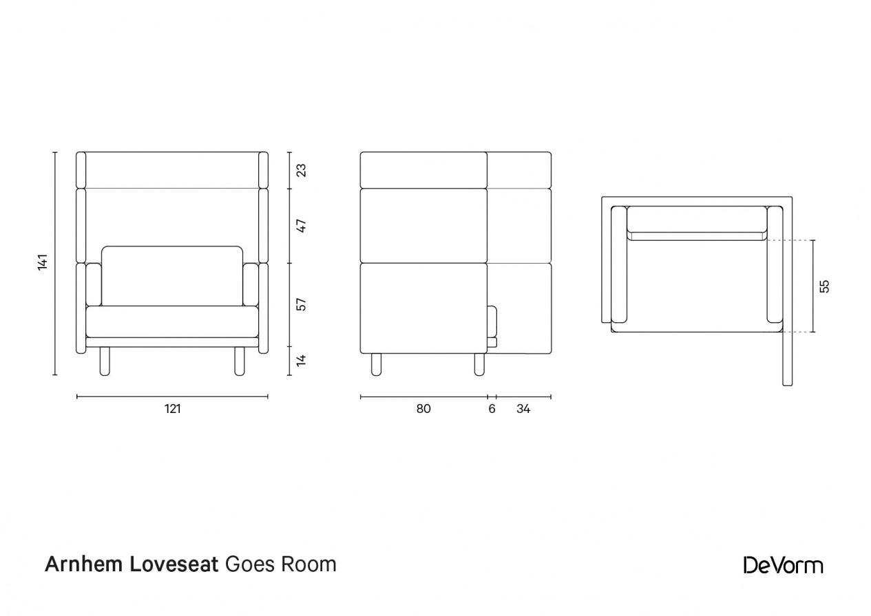 Arnhem Loveseat Goes Room preview