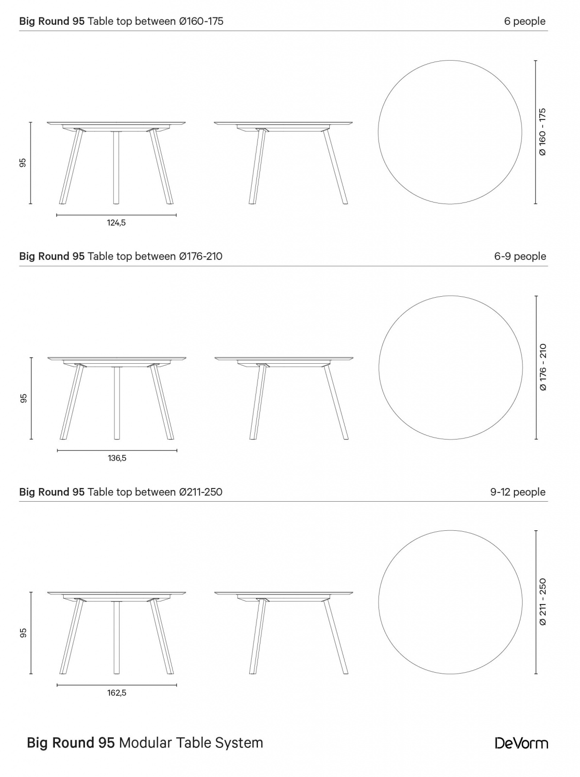 Big Round 95 | Technical drawing preview