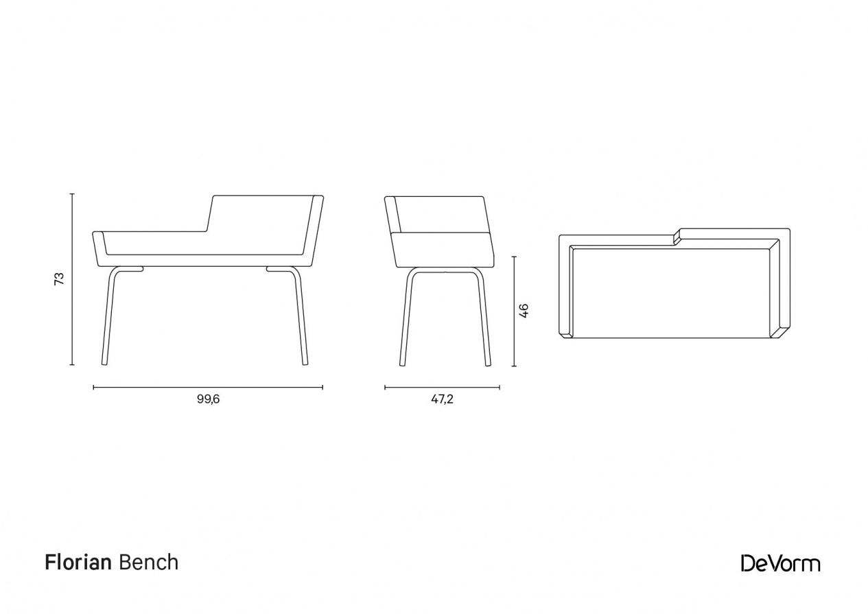 Florian Bench | Technical drawing preview