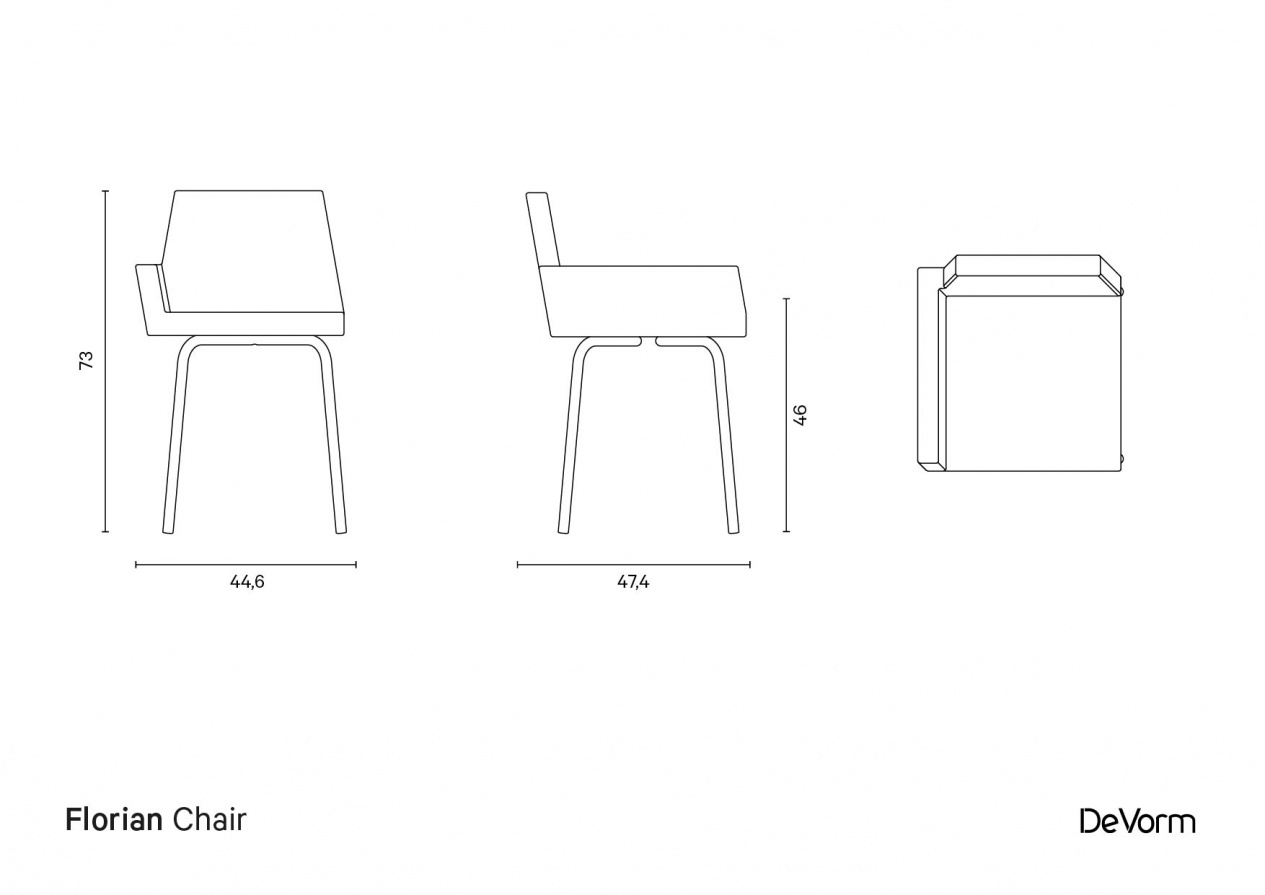 Florian Chair | Technical drawing preview