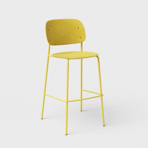 De-Vorm-hale-pet-felt-barstool-yellow