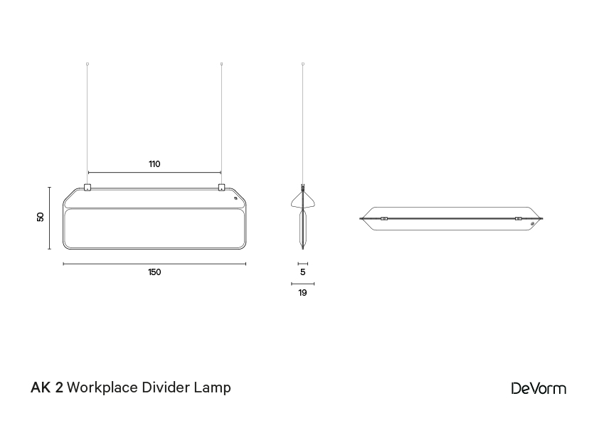 AK 2 Hanging | Technical drawing preview