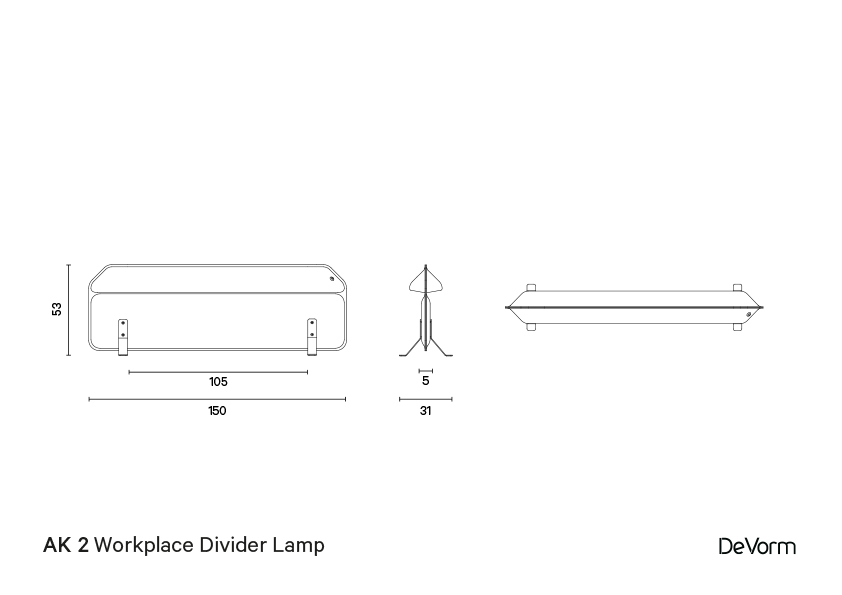 AK 2 - Workspace Divider Lamp Standing preview