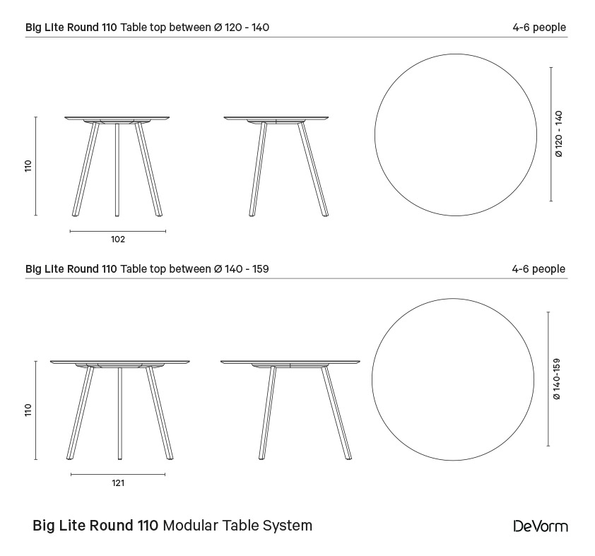 Big Lite Round 110 | Technical drawing preview