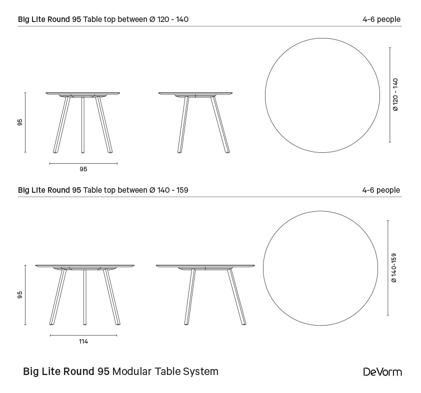 Big Lite Round 95 | Technical drawing preview
