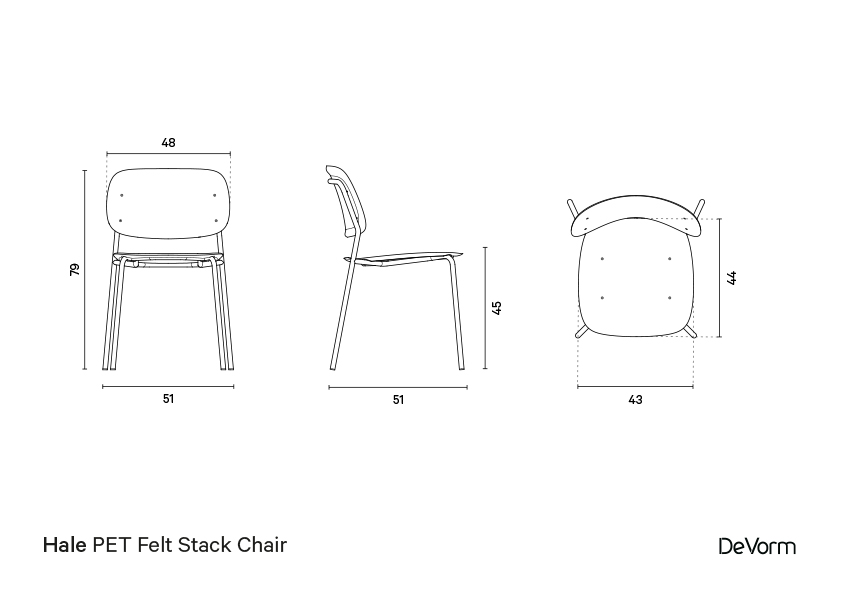 Hale chair  | Technical drawing preview