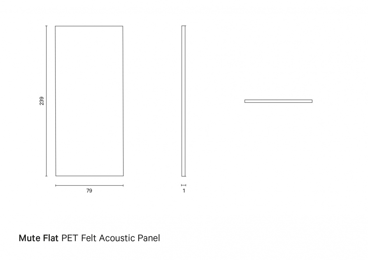 Mate Flat   Technical drawing preview