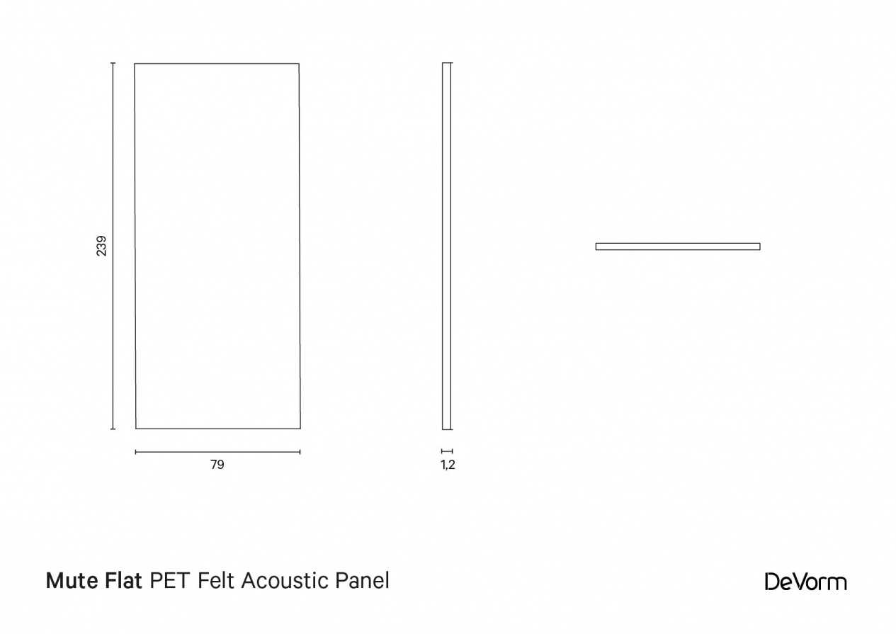 Mate Flat | Technical drawing preview