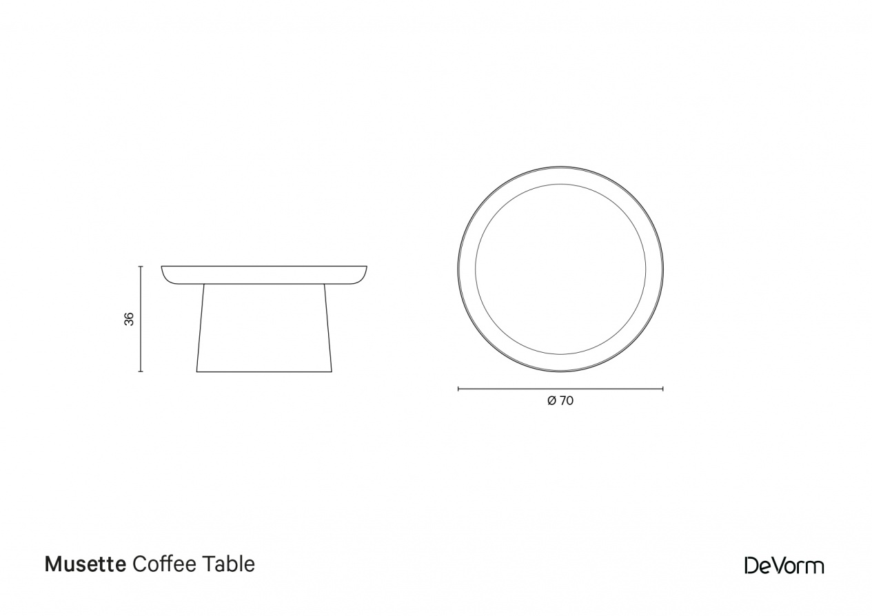 Musette Coffee Table | Technical drawing preview