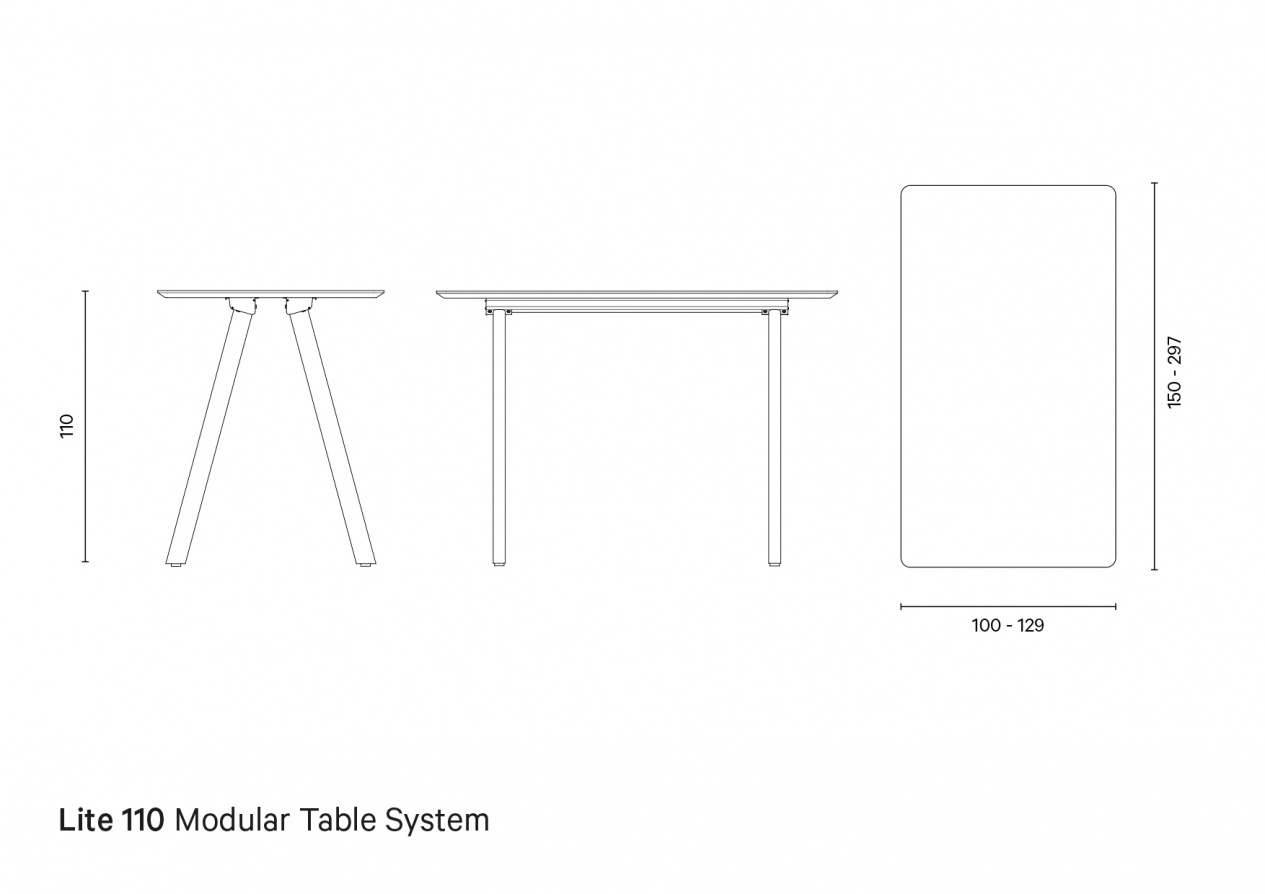 Lite 110 | Technical drawing preview