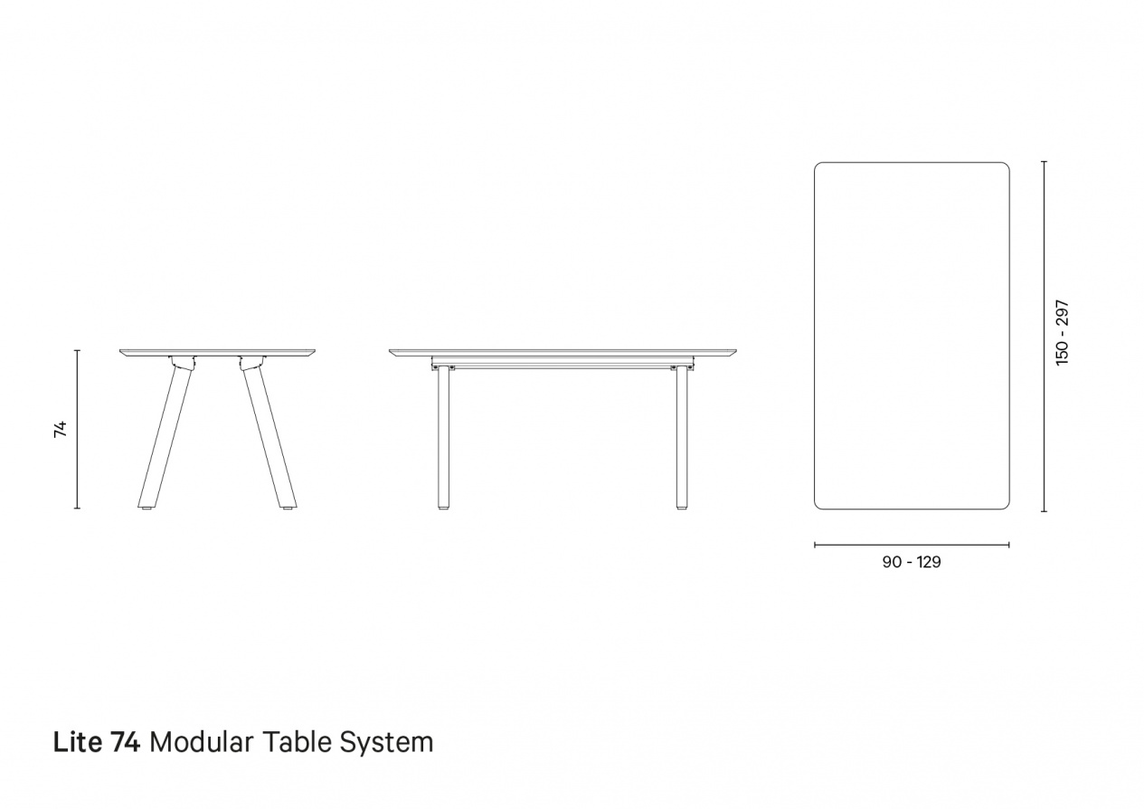 Lite 74 | Technical drawing preview
