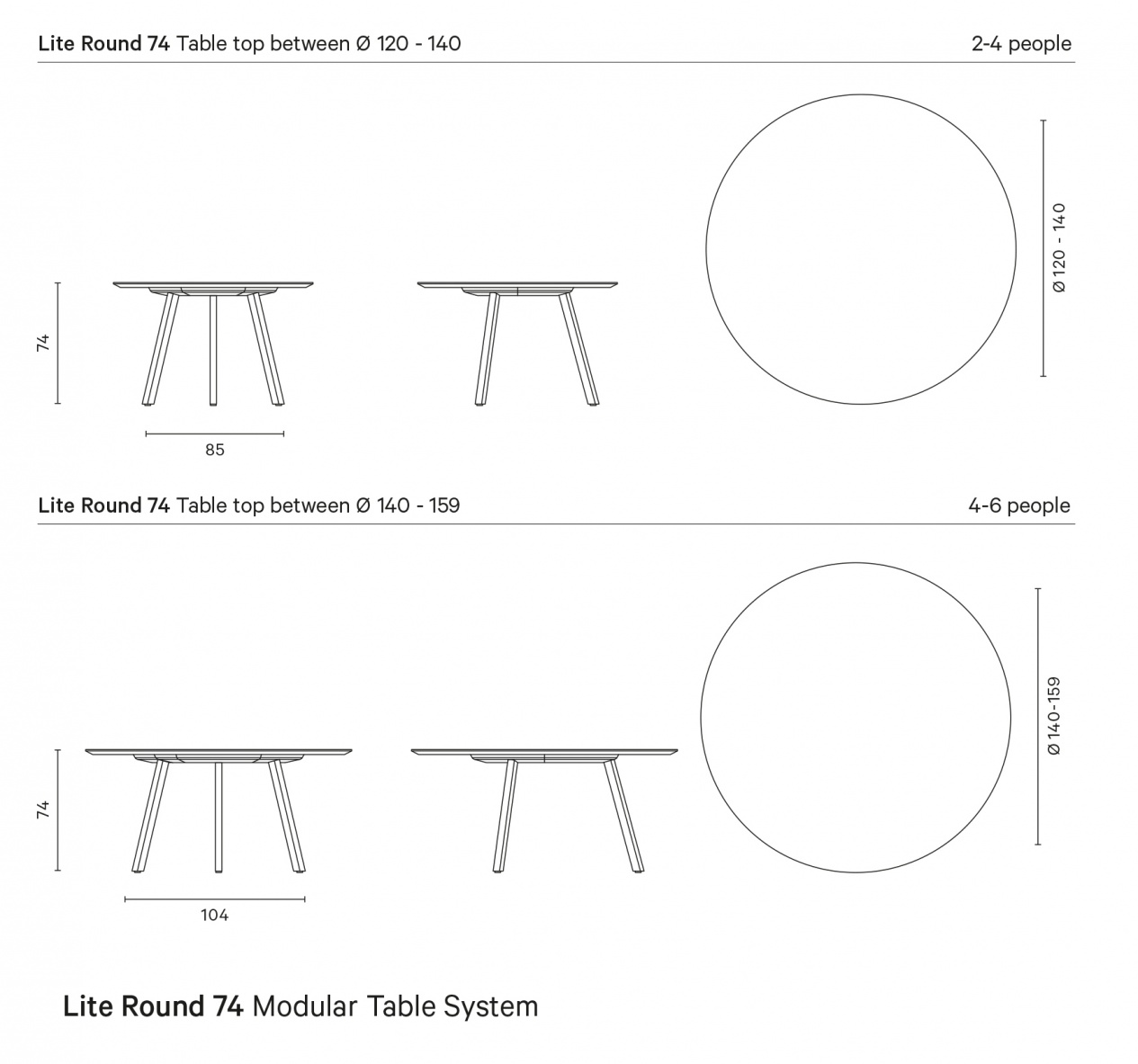 Lite 74 Modular Table System preview