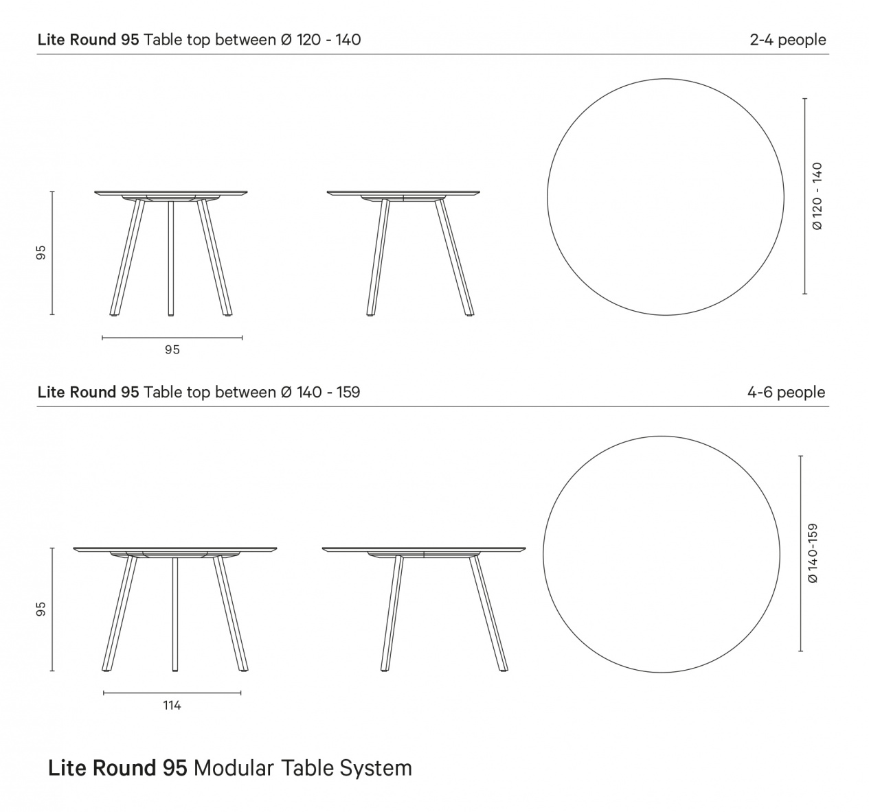 Lite 95 Modular Table System preview