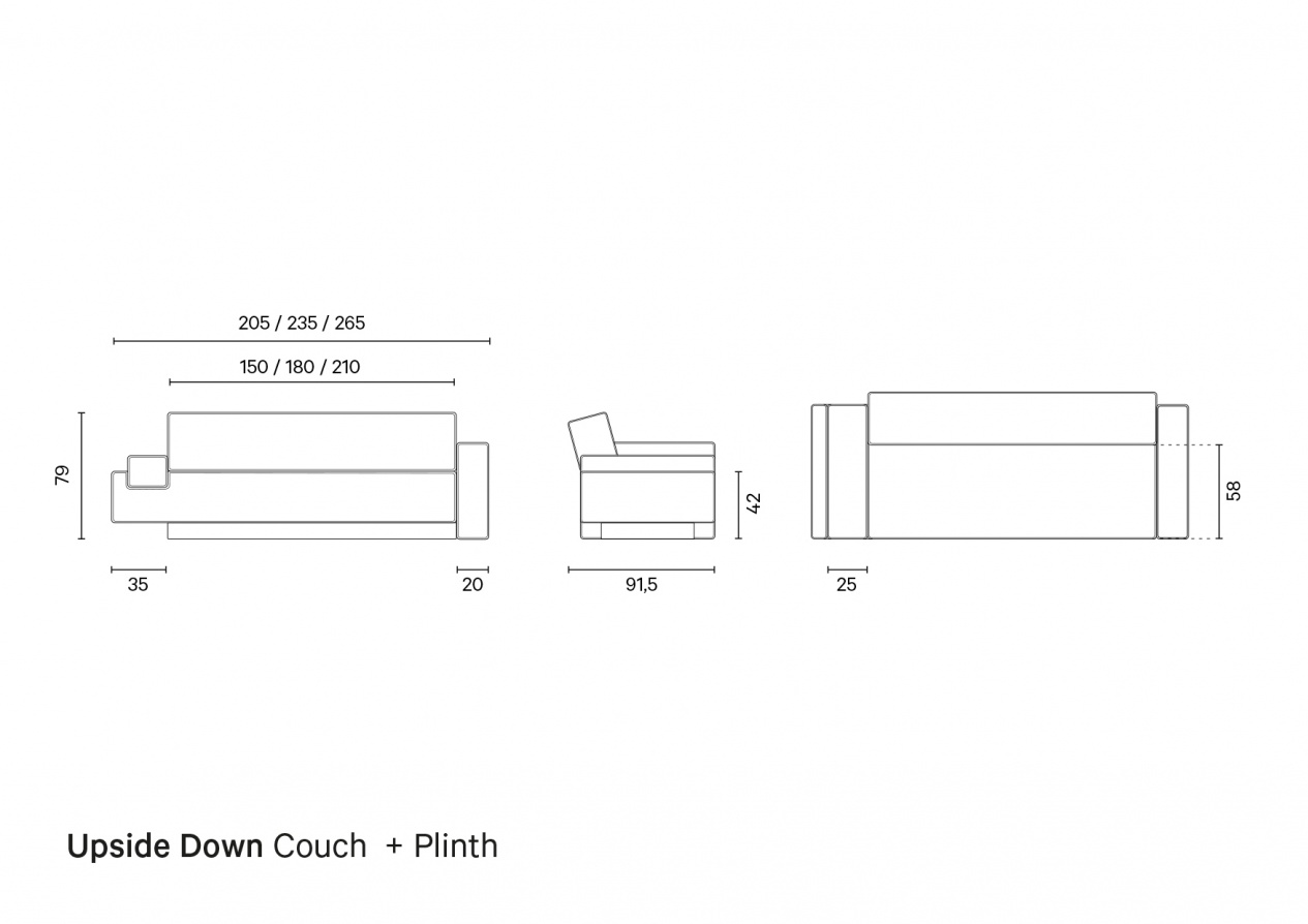 Upside Down Couch + Plinth | Technical Drawing preview