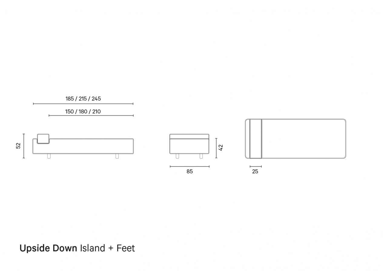Upside Down Island + Feet | Technical Drawing preview