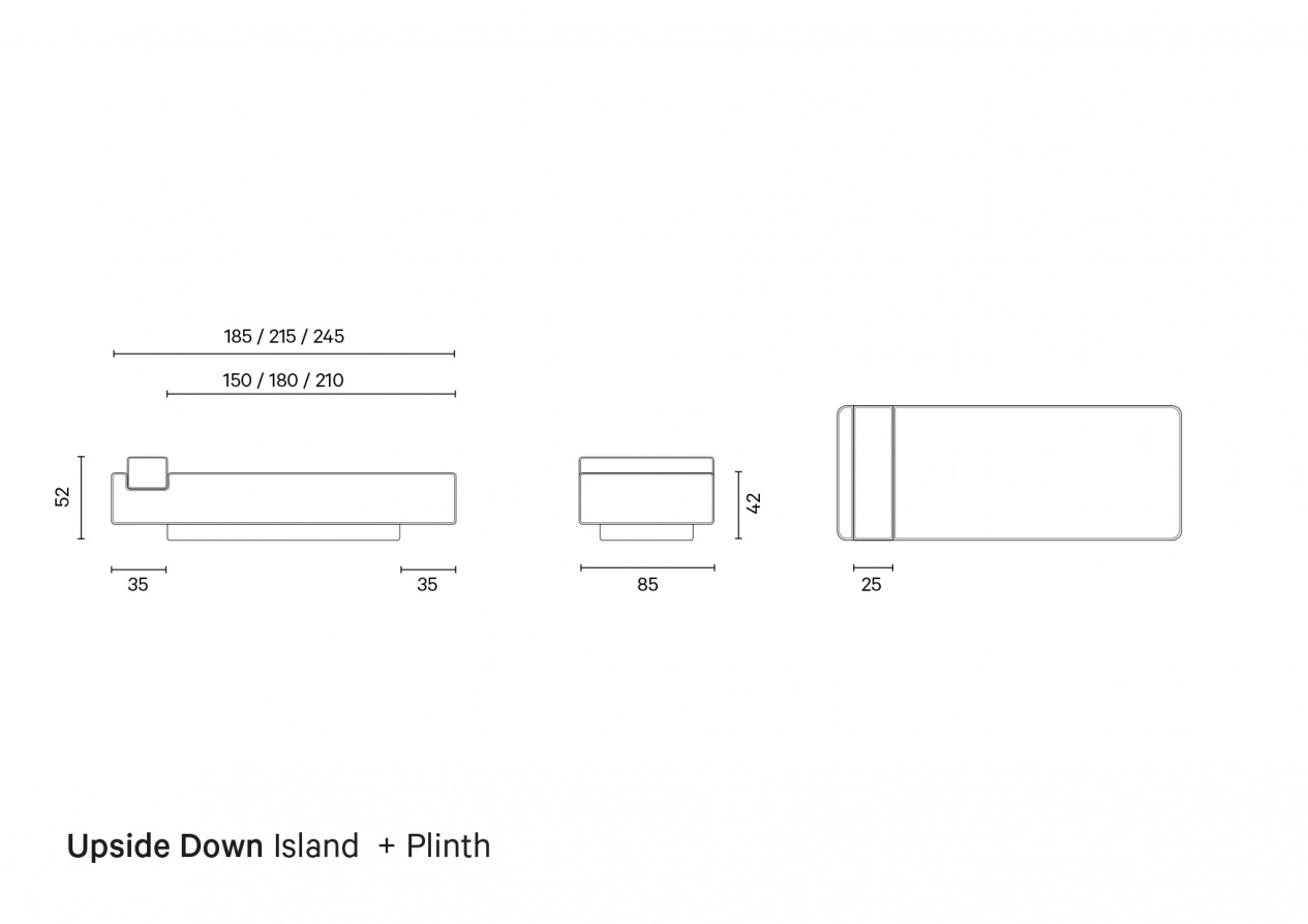 Upside Down Island + Plinth | Technical Drawing preview