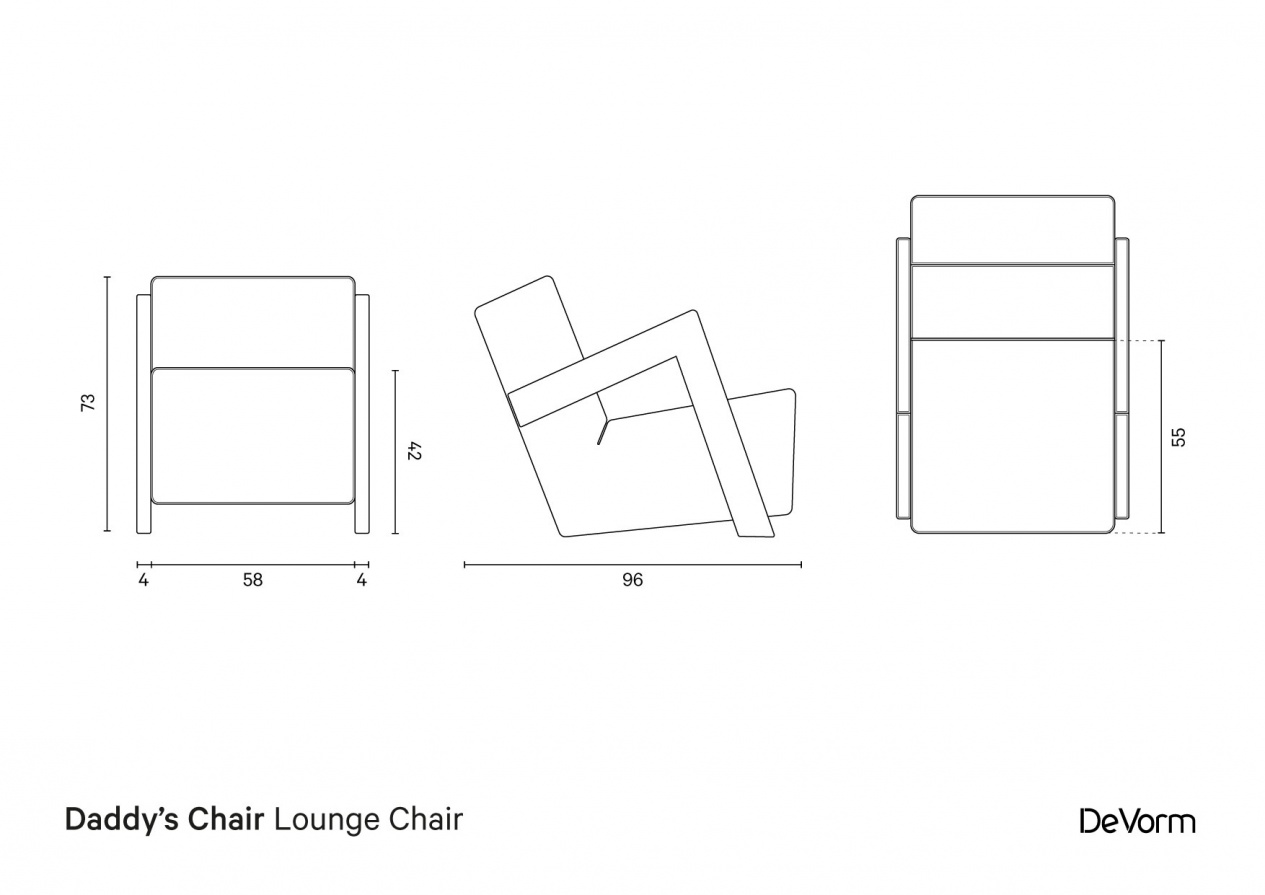 Daddy's Chair | Technical drawing preview