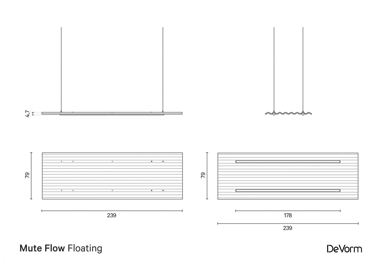 Mute Flow Floating | Technical drawing preview