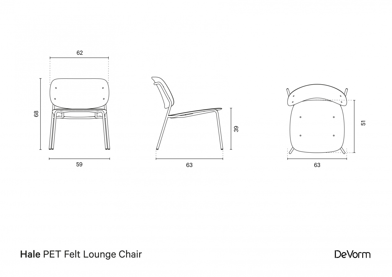 Hale Lounge Chair | Technical drawing preview
