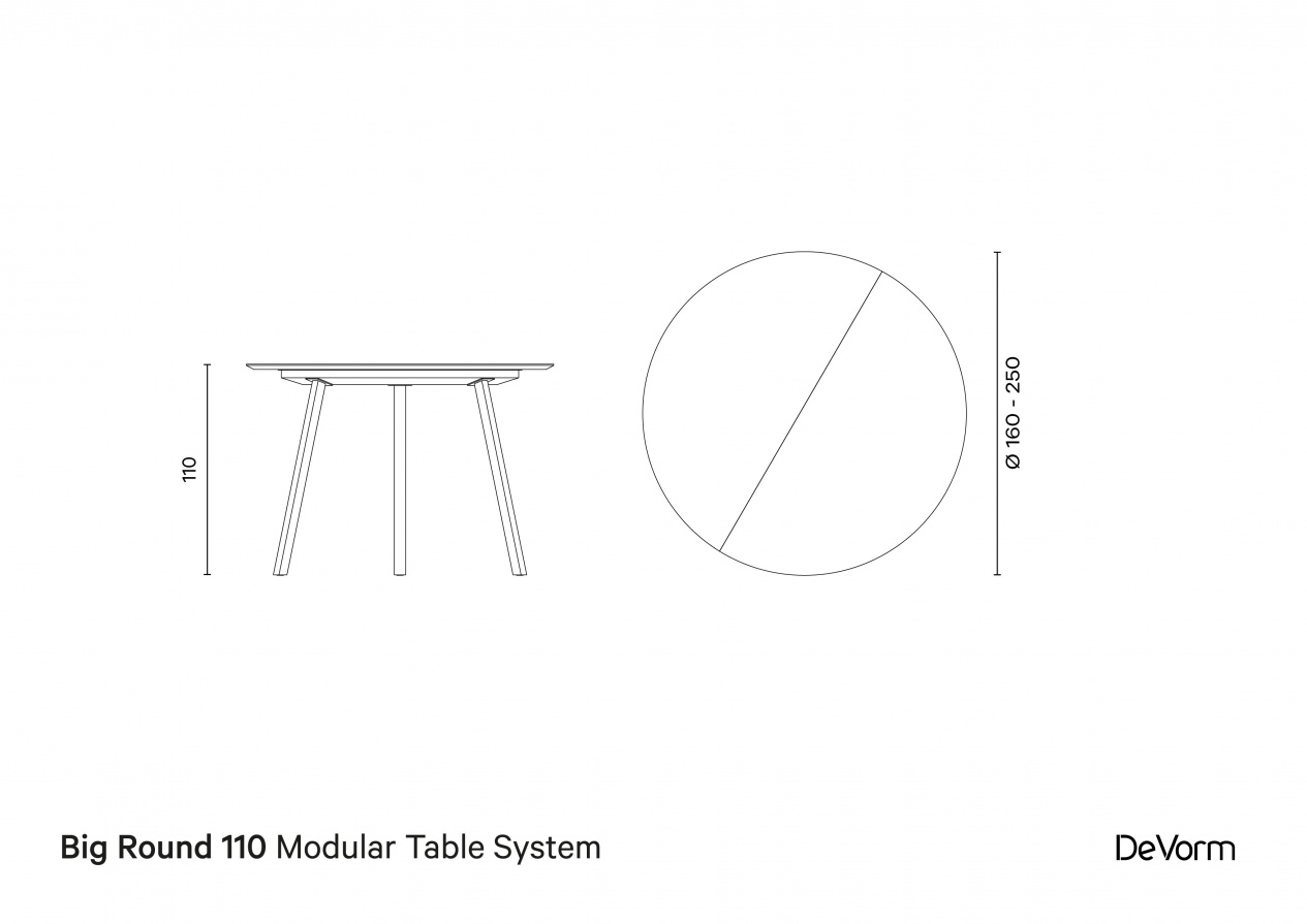 Big Round 110 | Technical drawing preview