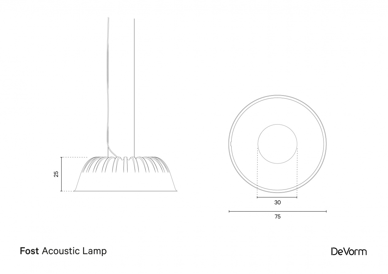 Fost Lamp | Technical drawing  preview