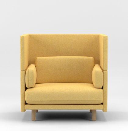 Loveseat_118cm_yellow