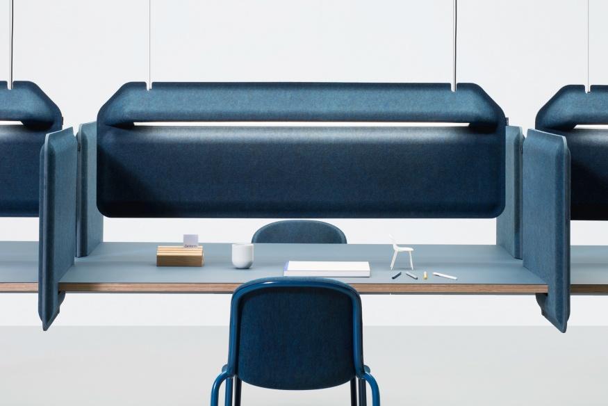 Bureau Hang Tl Lamp.Ak 2 Workplace Divider Lamp De Vorm
