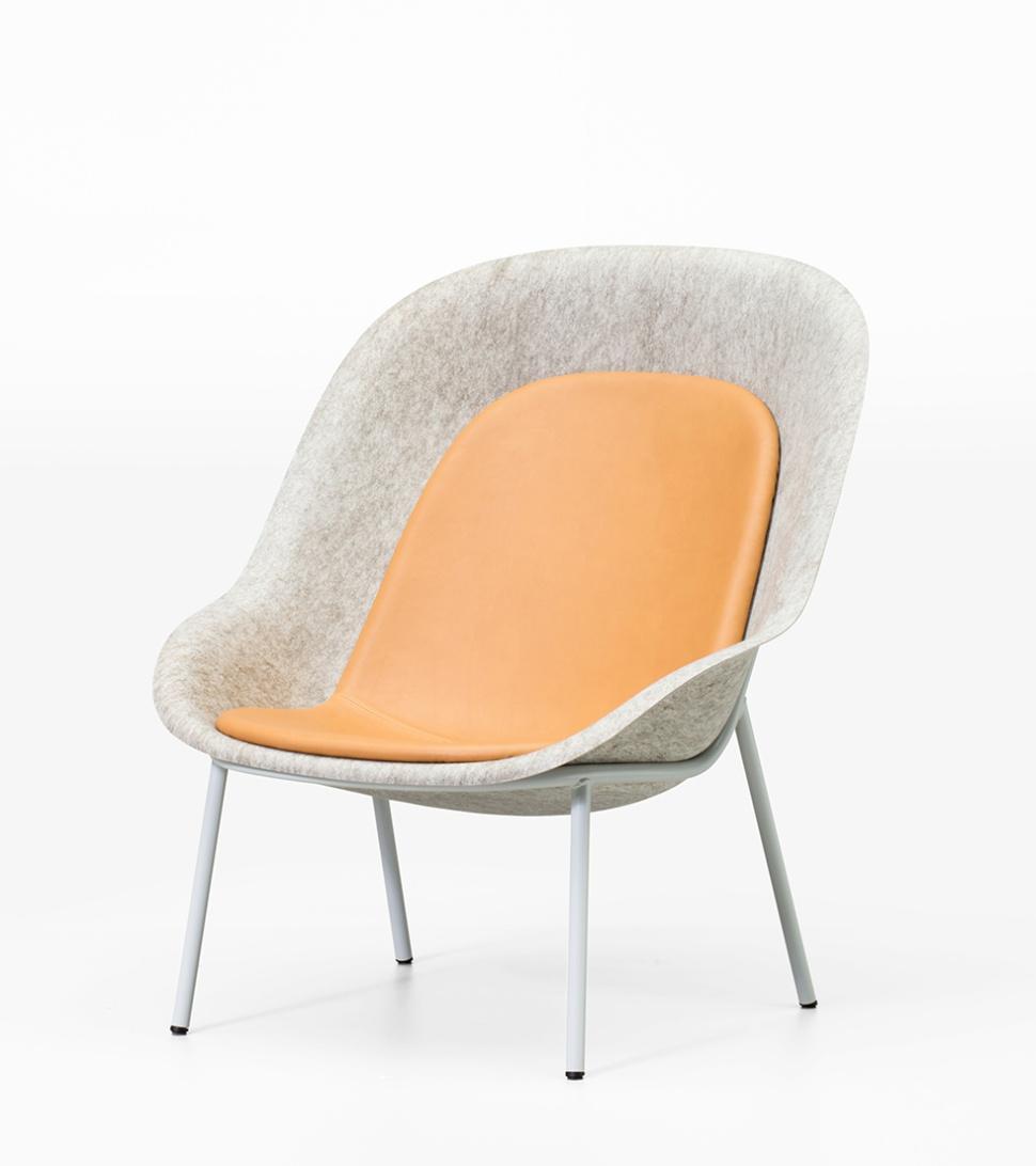 Lounge Stoel Gebruikt.Nook Pet Felt Lounge Chair De Vorm