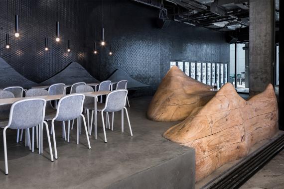 DeVorm Daipu Architects PET Felt Chairs Design LJ Series 2 Cups Bar 1