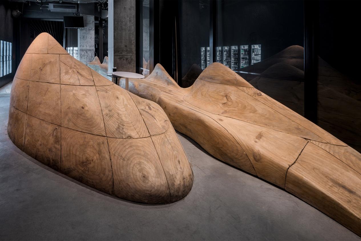 DeVorm Daipu Architects PET Felt Chairs Design LJ Series 2 Cups Bar 12
