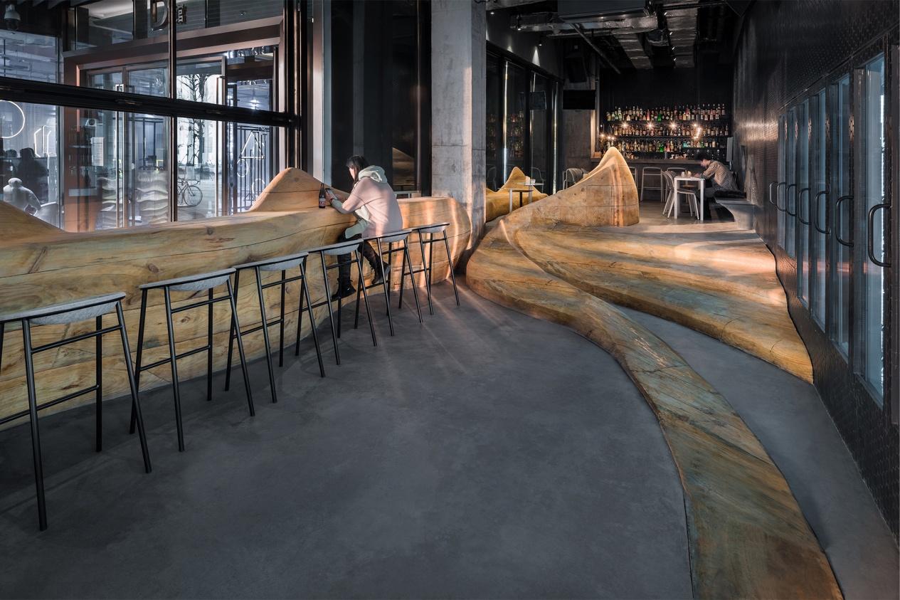 DeVorm Daipu Architects PET Felt Chairs Design LJ Series 2 Cups Bar 2