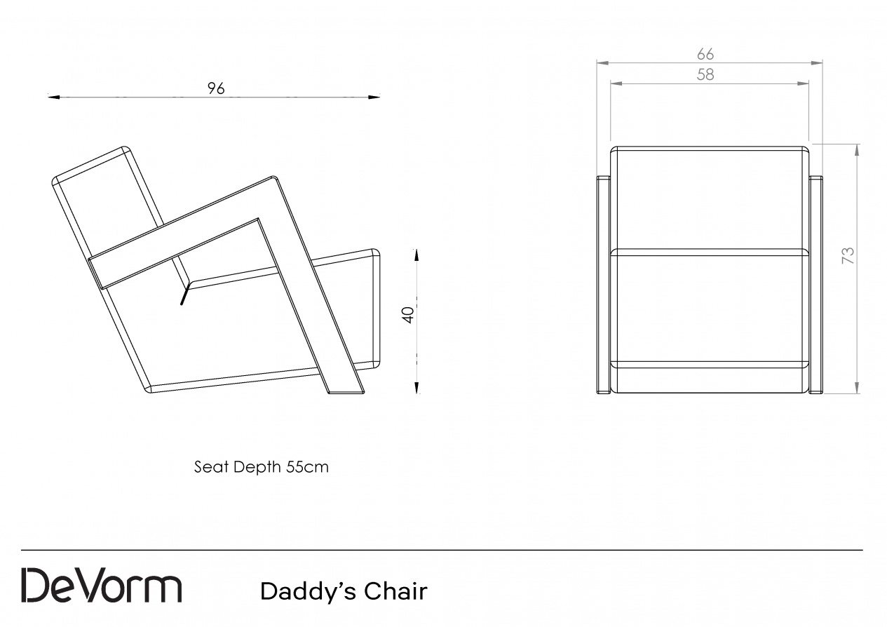 Daddy's Chair - Technical Drawing preview